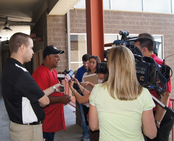 ValleyCat Manager Ed Romero meets the media